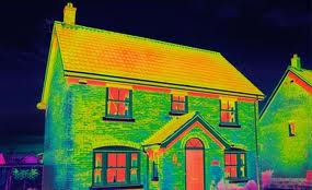 infra red photo of a house